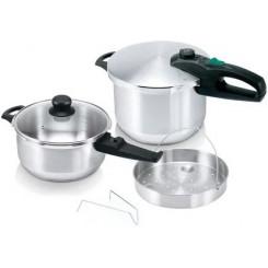 COOK-SHOP SET QUATTRO 8LT+4LT (30003376) Σετ μαγειρικών σκευών