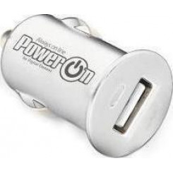 POWER ON CH-40W Car Charger Φορτιστής White