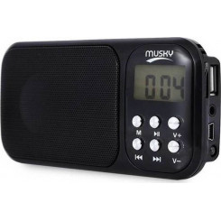 MUSKY HJ-92 2.3W Ραδιόφωνα Black